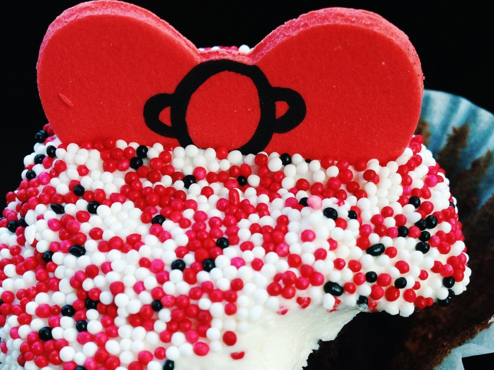 The most scrumptious cupcake from Charm City Cakes West in Hollywood, specially made for the Hello Kitty Hungry Hunt