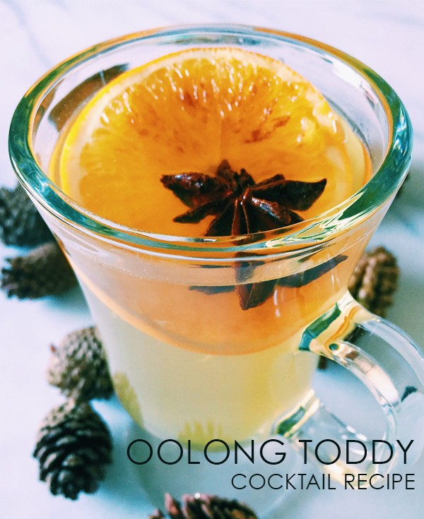 oolong toddy cocktail recipe from shaker & spoon