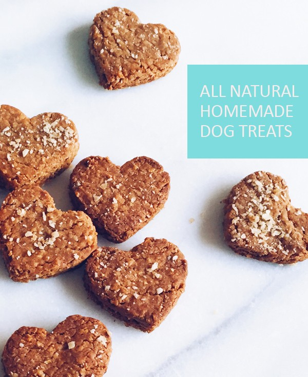 All natural homemade dog treats made with only 4 ingredients.