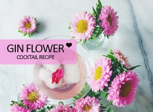 Gin Flower Cocktail Recipe from Shaker and Spoon - perfect for valentines day