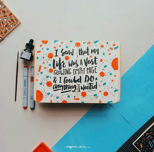 Beautiful handrawn doodles by Eugenia Clara - find her on Instagram @eugeniaclara