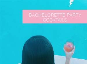 Bachelorette party cocktails by the pool in Palm Springs - recipes from Shaker & Spoon